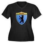 Berlin Germany Metallic Shield Plus Size T-Shirt