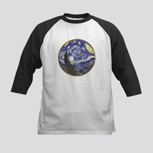 Starry Starry Night Kids Baseball Jersey