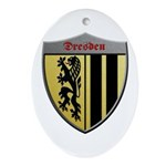 Dresden Germany Metallic Shield Ornament (Oval)