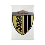 Dresden Germany Metallic Shield Magnets