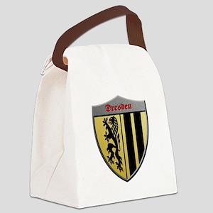 Dresden Germany Metallic Shield Canvas Lunch Bag