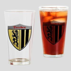 Dresden Germany Metallic Shield Drinking Glass