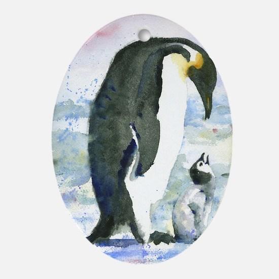 Penguin Parent Oval Ornament