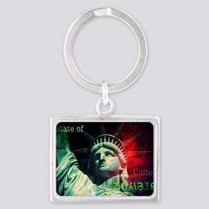 State of United Zombie Landscape Keychain