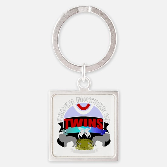 Mother of twins Square Keychain
