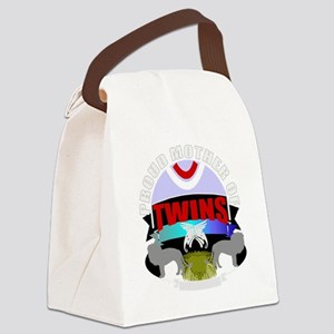 Mother of twins Canvas Lunch Bag