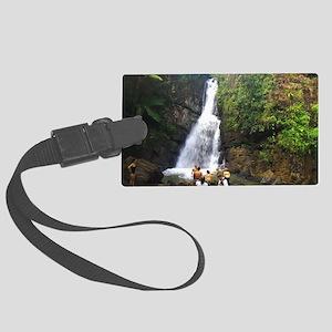 La Mina Falls, El Yunque Nationa Large Luggage Tag