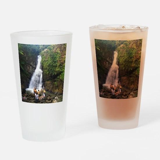 La Mina Falls, El Yunque National R Drinking Glass