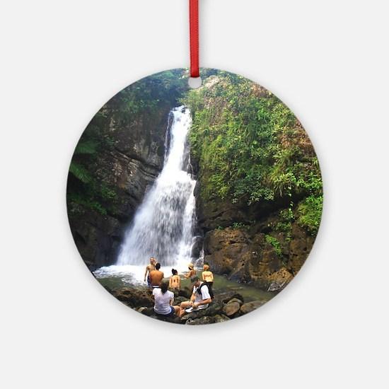 La Mina Falls, El Yunque National R Round Ornament