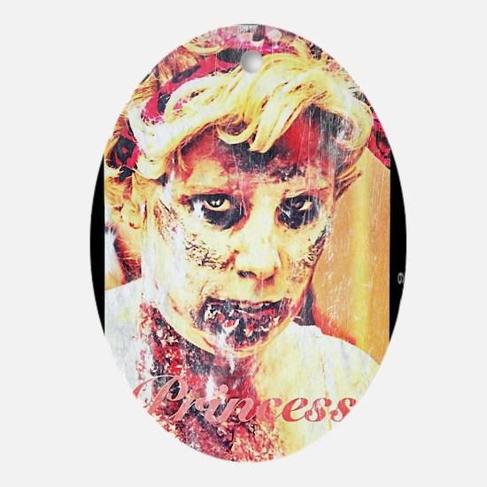 Zombie Princess Oval Ornament