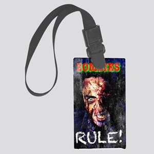 Zombies Rule! Large Luggage Tag