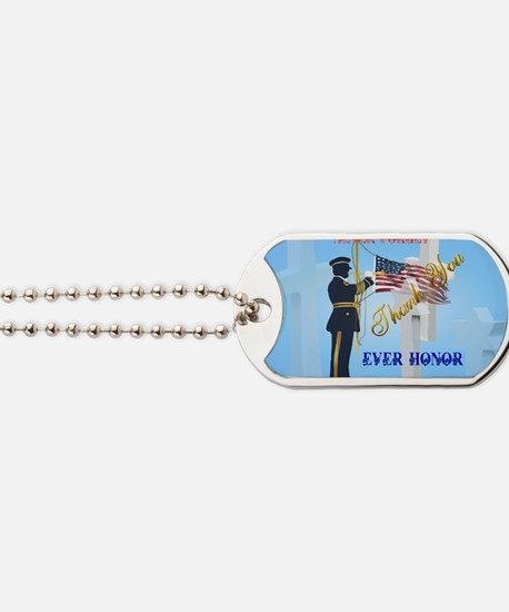 Yard Sign Never Forget-Ever Honor Dog Tags
