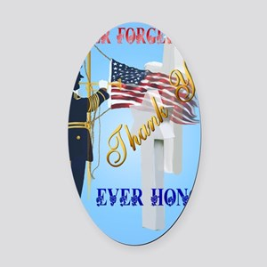 Greeting Card Never Forget-Ever Ho Oval Car Magnet