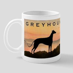 Greyhound Sunset Mug