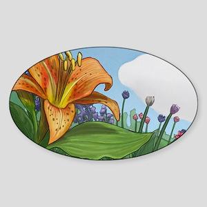 Tiger Lily Sticker (Oval)