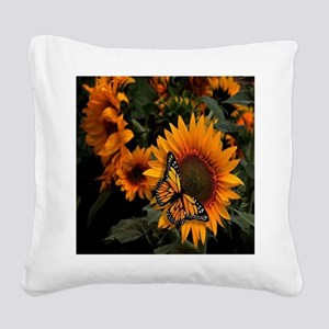 Butterfly Square Canvas Pillow