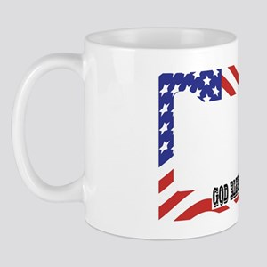 God Bless America Wavey Flag Mug