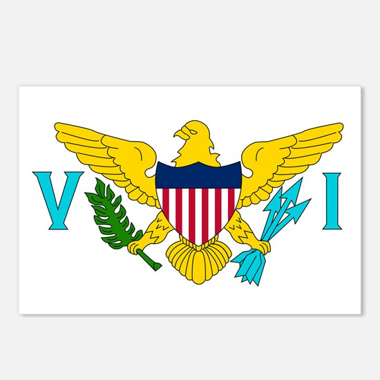The US Virgin Islands flag Postcards (Package of 8