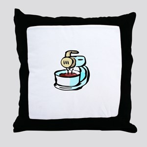 Mom Lick The Beaters White Throw Pillow