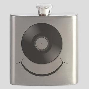 Vinyl Smile Black Flask