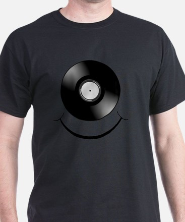 Vinyl Smile Black T-Shirt