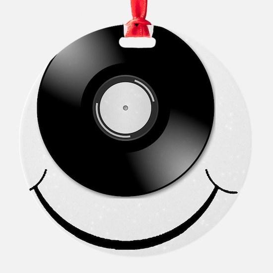 Vinyl Smile Black Ornament