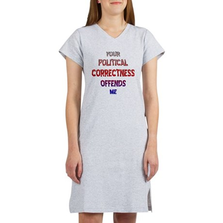 blk_political_correctness_offen Women's Nightshirt