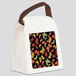 Fancy Butterfly Style Canvas Lunch Bag