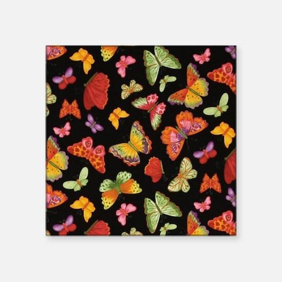 """Fancy Butterfly Style Square Sticker 3"""" x 3"""""""