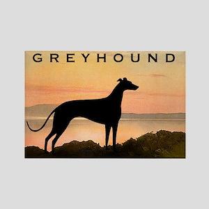 Greyhound Sunset Rectangle Magnet