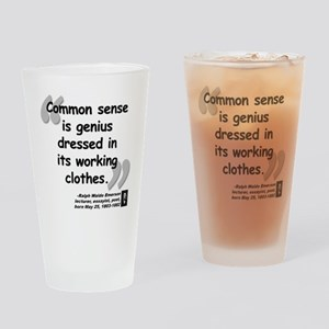 Ralph Waldo Emerson Drinking Glass