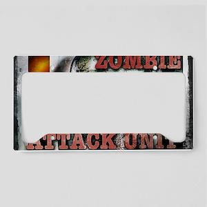 Zombie Attack Unit Run 2 License Plate Holder