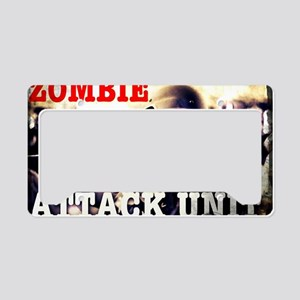 Zombie Attack Unit Gas Mask 2 License Plate Holder