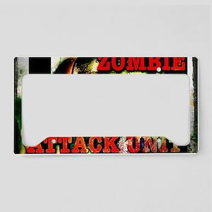 Zombie Attack Unit Run! License Plate Holder