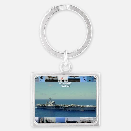 USS Nimitz Landscape Keychain