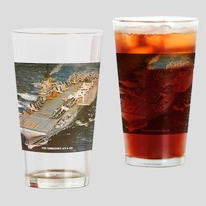 yorktown cva framed panel print Drinking Glass