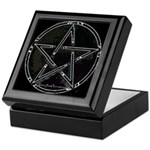 Silver Plasma Pentacle Keepsake Box