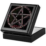 Red Plasma Pentacle Keepsake Box