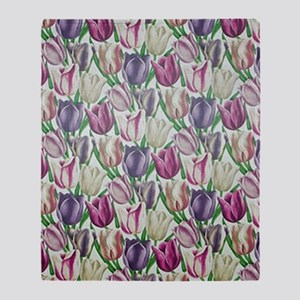 Tulips Throw Blanket