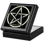 Gold Pentacle Keepsake Box