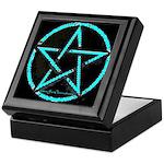 Blue Plasma Pentacle Keepsake Box