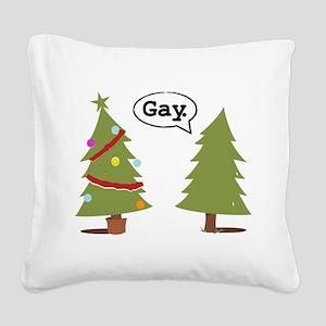 Fairy Santa Square Canvas Pillow