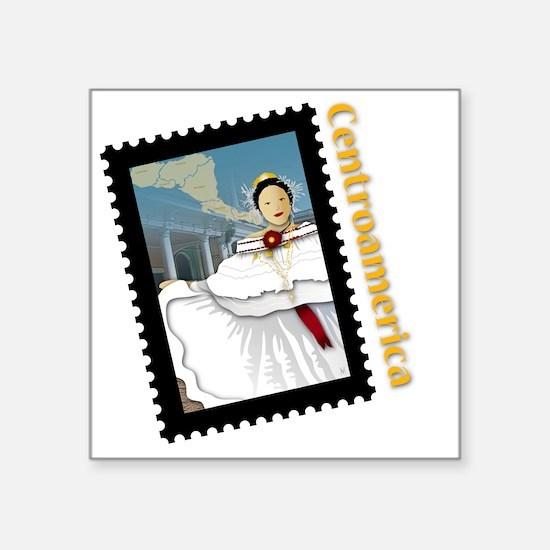 """Central America Square Sticker 3"""" x 3"""""""