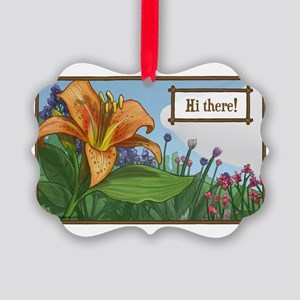 Tiger Lily Greeting Picture Ornament