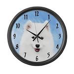 Samoyed Puppy Large Wall Clock