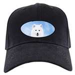Samoyed Puppy Black Cap with Patch