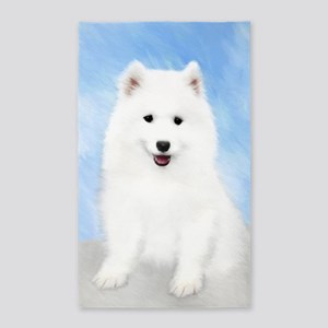 Samoyed Puppy Area Rug