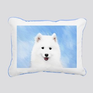 Samoyed Puppy Rectangular Canvas Pillow