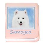 Samoyed Puppy baby blanket