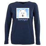Samoyed Puppy Plus Size Long Sleeve Tee